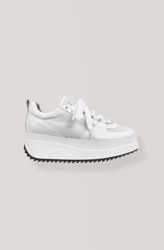 Naomi Leather Sneakers, Bright White, hi-res