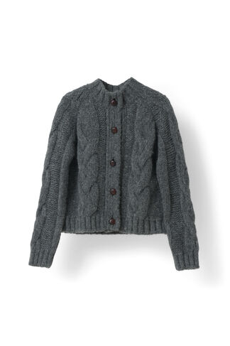 Brooks Cardigan, Smoked Pearl Melange, hi-res