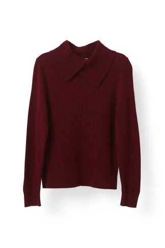 Mercer Knit Rollneck, Cabernet, hi-res