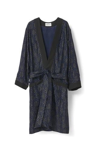 Emiko Jacquard Kimono Dress, Iris, hi-res