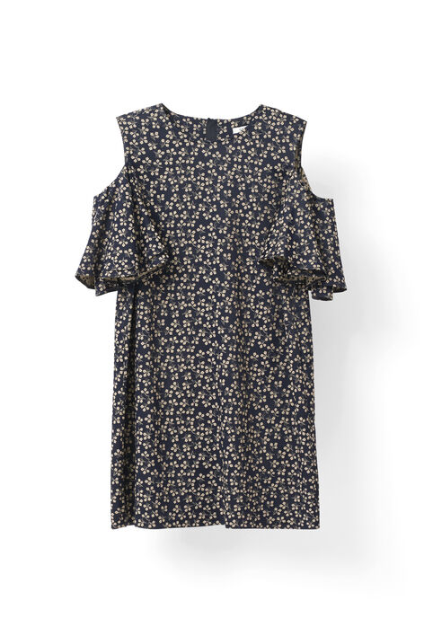 Greenville Jacquard Dress, Total Eclipse, hi-res
