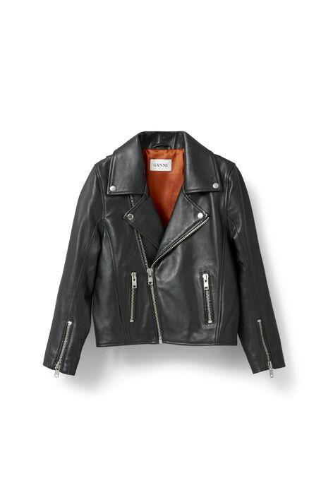 Passion Biker Jacket, Black, hi-res