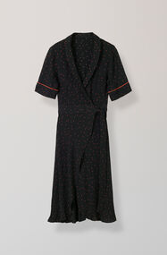 Emory Crepe Wrap Dress, Black, hi-res