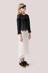 Emile Lace Blouse, Black, hi-res