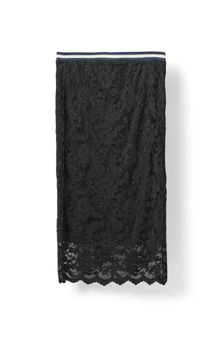 Ayame Lace Skirt, Black, hi-res