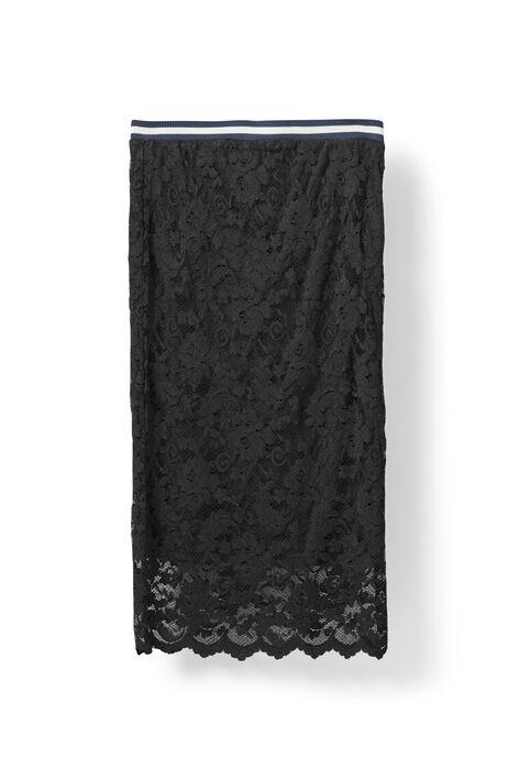 Ayame Lace Skirt, Black, hi-res