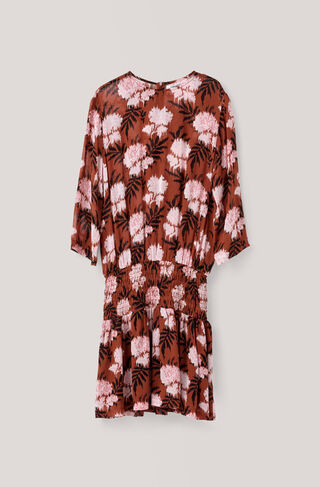 Monette Georgette Dress, Brandy Brown, hi-res