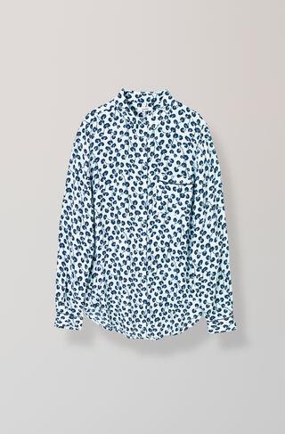 Emory Crepe Shirt, Pearl Blue, hi-res