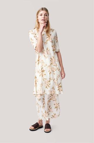 St. Pierre Crepe Dress, Vanilla Ice, hi-res