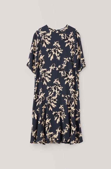 St. Pierre Crepe Dress, Total Eclipse, hi-res