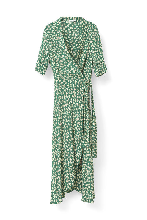 Dalton Crepe Dress, Verdant Green, hi-res