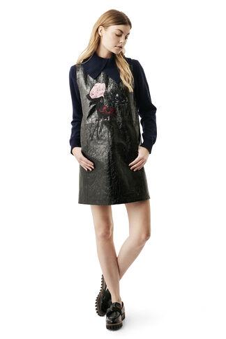 Scott Leather Dress, Black, hi-res