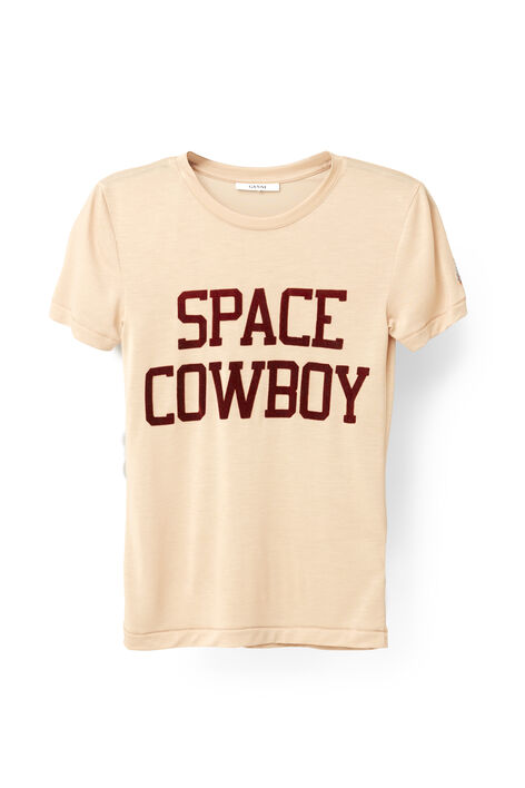 Linfield Lyocell T-shirt, Space Cowboy, Cuban Sand, hi-res