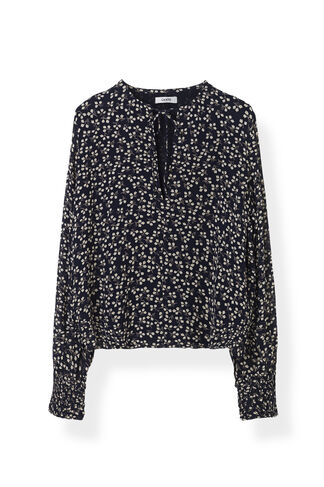 Newman Georgette Blouse, Total Eclipse, hi-res