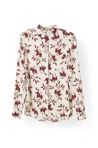 Maxwell Crepe Shirt, Cabernet Bell Flower, hi-res