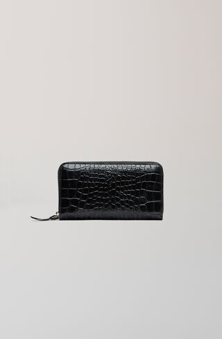 Gallery Accessories Purse, Black Croco, hi-res