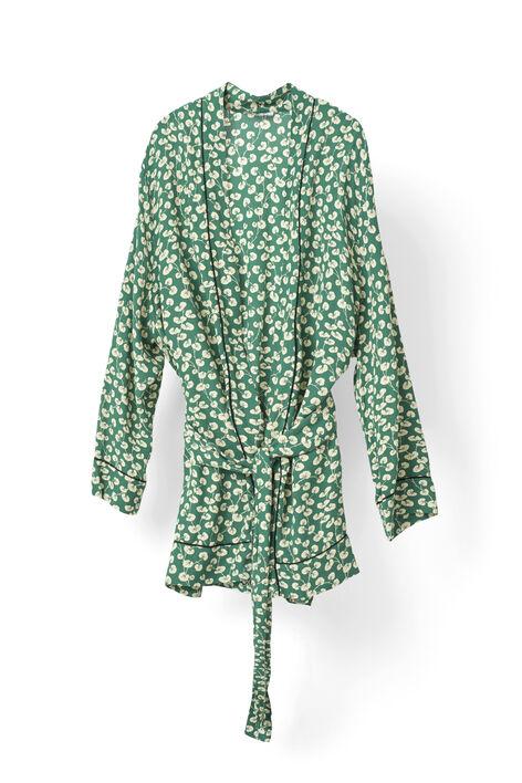 Dalton Crepe Kimono, Verdant Green, hi-res