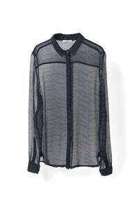Whitman Chiffon Shirt, Total Eclipse, hi-res