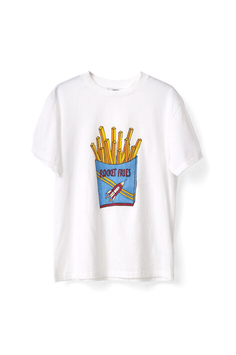 Berkeley T-shirt, Rocket Fries, Bright White, hi-res