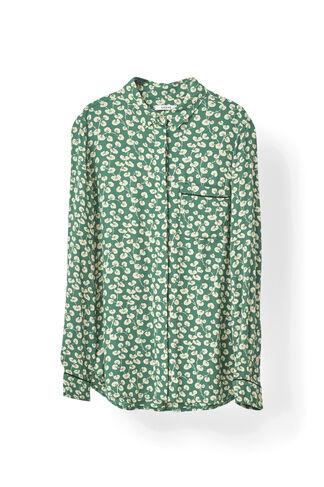 Dalton Crepe Shirt, Verdant Green, hi-res