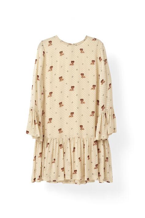 Newman Georgette Dress, Biscotti, hi-res