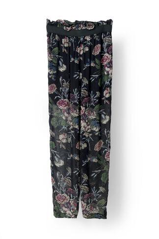 Bartlett Georgette Pants, Black Bouquet, hi-res