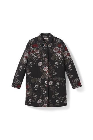 O'Donnell Brocade Coat, Black Bouquet, hi-res