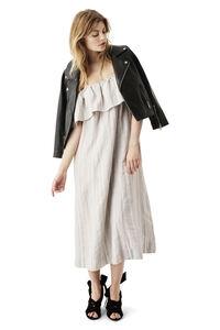 Reiko Linen Dress, Pearl Blue Stripe, hi-res