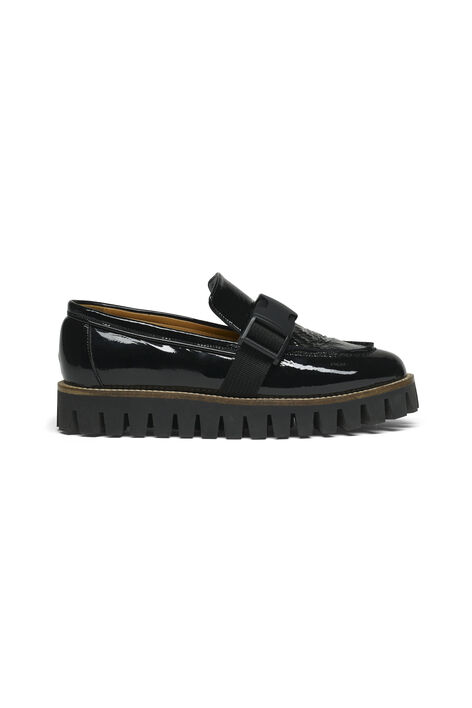Isla Cracked Shoes, Black, hi-res