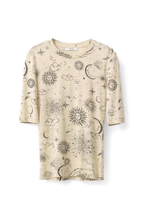 Linfield Lyocell T-shirt, Biscotti Galaxy, hi-res