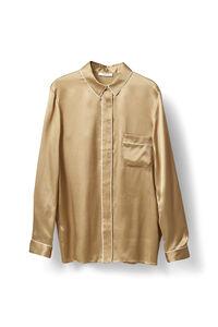 Fumiko Silk Shirt, Cork, hi-res