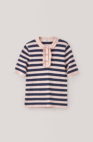 Romilly Blouse, Cloud Stripes, hi-res
