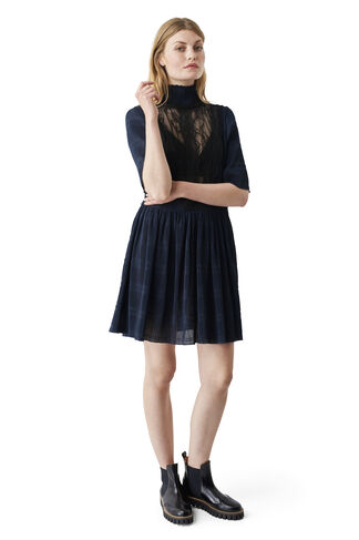 McKinney Pleat Dress, Total Eclipse, hi-res