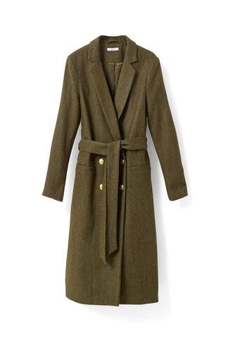 Hawthorne Wool Coat, Dark Olive Melange, hi-res