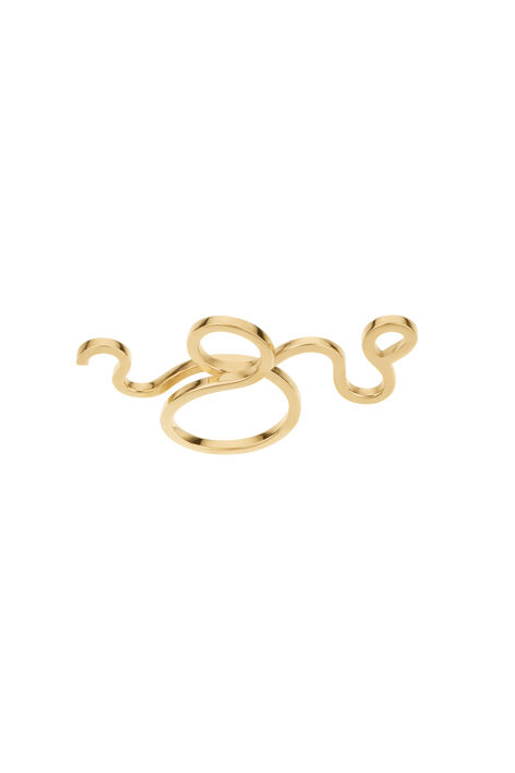 GANNI x Sophie Bille Brahe Ring, Gold, hi-res