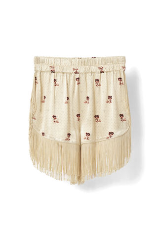 Donnelly Satin Shorts, Biscotti, hi-res