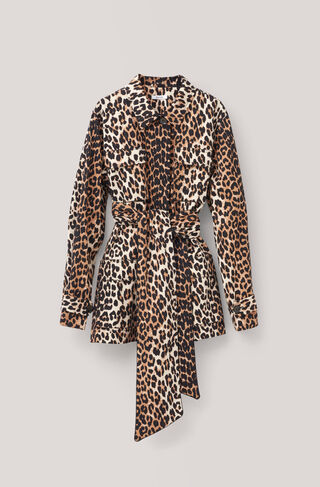 Fabre Cotton Jacket, Leopard, hi-res
