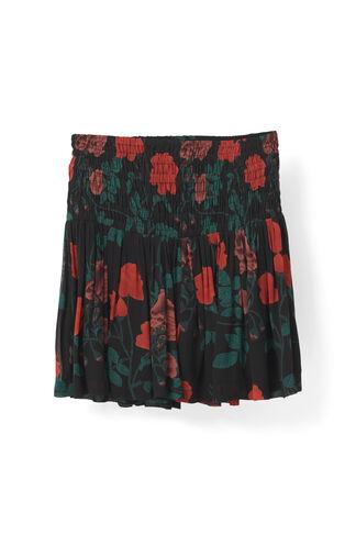 Newman Georgette Skirt, Black, hi-res
