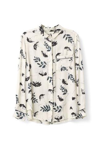 Rosemont Crepe Shirt, Vanilla Hemlock, hi-res