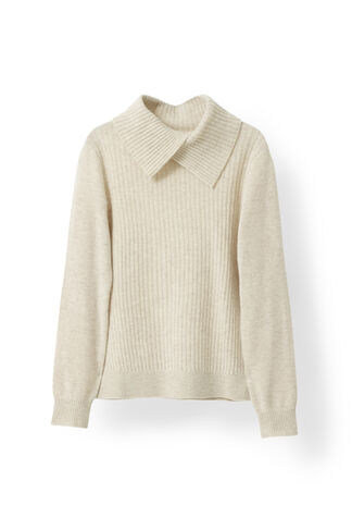 Mercer Knit Rollneck, Vanilla Ice Melange, hi-res