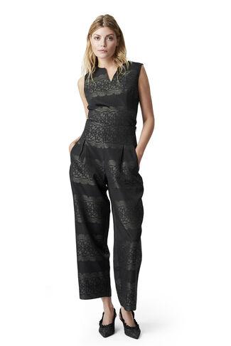Auburn Jacquard Pants, Black, hi-res