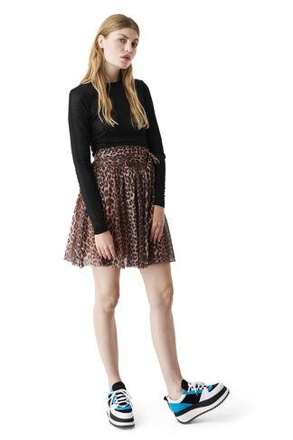 Olivet Mesh Skirt, Leopard, hi-res