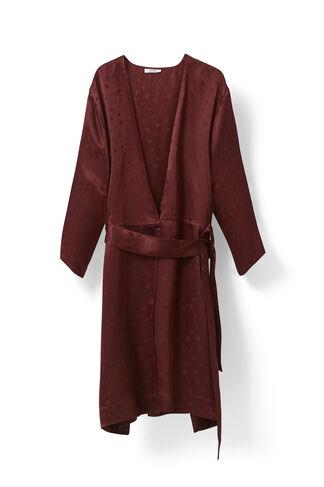 McCarthy Silk Kimono Dress, Cabernet, hi-res