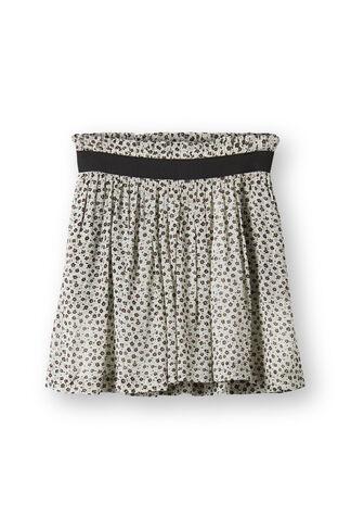 Miku Georgette Skirt, Blue Flower Bed, hi-res