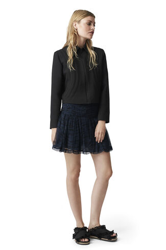 Whitman Chiffon Skirt, Total Eclipse, hi-res