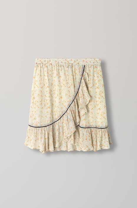 Clermont Georgette Skirt, Meadow Flowers, hi-res
