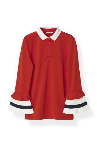 Naoki Polo Polo Blouse, Fiery Red, hi-res