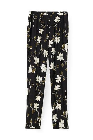Rosemont Crepe Pants, Black Wild Rose, hi-res