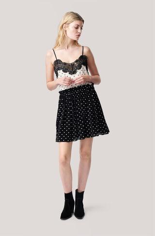 Monette Georgette Skirt, Black, hi-res
