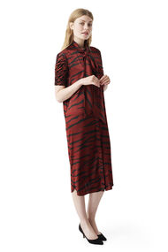 Iona Silk Dress, Brick Tiger, hi-res